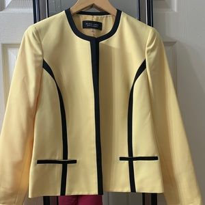 Jackets & Blazers - NWT Black Label By Ivan Picote Size 6 Yellow